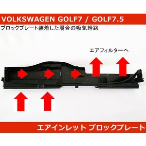 VW ゴルフ7(7.5) / アウディ A3  エアインレットダクト ブロックプレート GOLF7/...