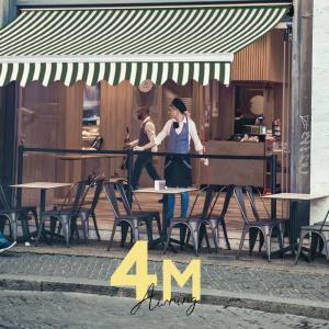 オーニングテント 幅4m×張出2.5m 緑白/ストライプ 白フレーム 折り畳み 伸縮  巻き上げ式 ...