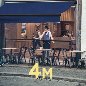 オーニングテント 幅4m×張出2.5m 青 ブルー 黒フレーム 折り畳み 伸縮 巻き上げ式 雨よけ  サンシェード □_71118|ggbank
