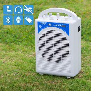 ワイヤレスマイクセット 15W 軽量 MP3再生 録音機能 カラオケ マイクアンプ ヘッドセット ピンマイク  _73050 ggbank
