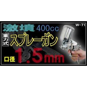重力式エアースプレーガン 口径1.5mm _75028 ggbank