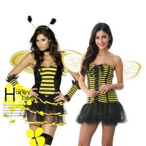 コスプレ 衣装 みつばち ミツバチ 大人 ハロウィン アニマル かわいい セクシー コスチューム 女王蜂 蜜蜂 ハッチ 仮装 アキバ キャラクター _81073|ggbank