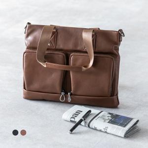 ビジネスバッグ トートバッグ メンズ 牛本革 おしゃれ 大容量 2色 斜めがけ A4 レザー ショルダーベルト @82268|ggbank