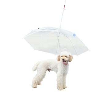 ペット用品 犬 傘 ドッグ アンブレラ 直径77cm 小型犬 中型犬  散歩 雨具 リード ハーネス わんちゃん 犬用 _83092|ggbank
