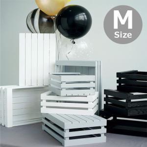 木製 ボックス おしゃれ 北欧 収納 木製ラック 白 黒 グレー Mサイズ スタッキングボックス プランター 小物入れ  @83367|ggbank