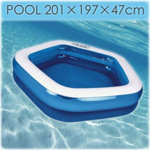 送料無料 大型プール ビニールプール 子供 大型 家庭用プール 大きな プール /サイズ 197×201×47cm ファミリープール アウトドア/レジャー_85050|ggbank
