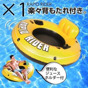 浮き輪 大人 135cm フロート ジュースホルダー 背もたれ 1人 うきわ 海 プール _85169|ggbank