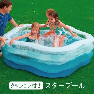 intex プール 家庭用 ビニールプール 大型 底 クッション 子供用 大人用 インテックス 大きい 水遊び 水抜き栓 185cm 180cm 53cm _85477|ggbank
