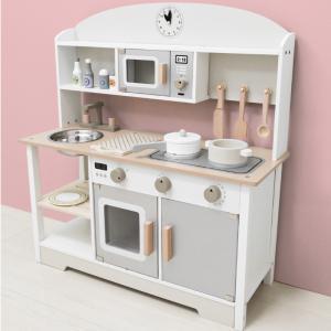 送料無料 ままごと キッチン 木製 コンパクト おままごとセット おままごと 調理器具 おもちゃ 知...