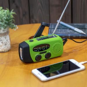 手回し充電ラジオ 手回し 充電器 ラジオ 懐中電灯 ライト LED ソーラー スマホ iPhone Android USB FM AM 携帯 モバイルバッテリー _86319 ggbank