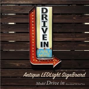 看板 DRIVE IN LED 照明 プレート アンティーク風 アメリカン雑貨 ネオンサイン ドライブイン インテリア ヴィンテージ おしゃれ 条件付 送料無料 _87201|ggbank