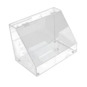 送料無料 アクリルケース 収納ケース ディスプレイ Lサイズ ふた付きスタンドラック 小物 化粧品 アクセサリー コスメボックス ネイル用品 時計 _87261|ggbank