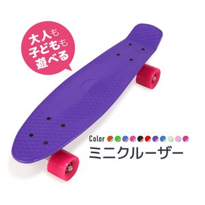 昔ながらのスケートボードが装いを新たに登場。 子供から大人まで使えるミニサイズ。  【商品内容】 ス...
