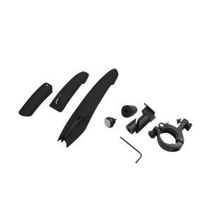 マットガード 泥よけ 自転車 汎用 前後3点セット LED テールライト 7色 クロスバイク 軽量 泥除け LEDライト フェンダー    @a771|ggbank
