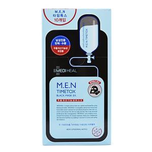 【正規輸入品】メディヒール M.E.N タイムトックス ブラック マスク EX (男性用シートマスク) 10枚|ggking