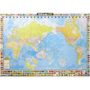 世界全図 国旗入り メルカトル図法