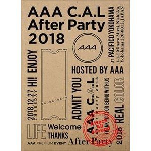 AAA C.A.L After Party 2018 [Blu-ray]|ggking