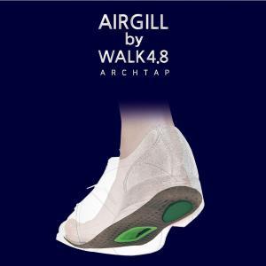 AIRGILL by WALK4.8 インソール エアギル 衝撃吸収 土踏まず 偏平足 マッサージ 足裏 消臭 抗菌 靴 中敷き ウォーキング 登山 ゴルフ 足底 立ち仕事|ggtokyo