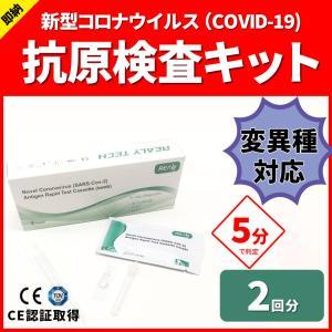 【2回分】コロナ抗原検査キット 新型コロナウィルス PCR COV-19 抗原キット 対策 抗体検査 メール便送料無料 ggtokyo