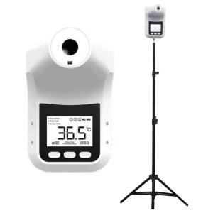 スタンド式 非接触型 ノータッチ 温度測定器 無人 非対面 自動測定 高速反応 額 温度計 壁掛け 卓上 三脚 体温計 衛生的 検温 感染対策 ウィルス対策 感染予防|ggtokyo