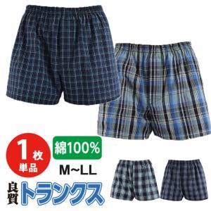 [1枚] メンズ トランクス  綿100% 良質 安い M L LL 男性 涼しい 快適 下着 パンツ 前開き おしゃれ 紳士 40代 50代 綿|ggtokyo