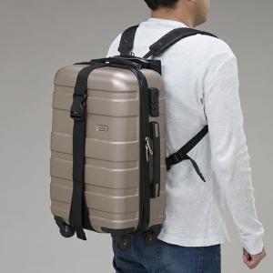 背負える!キャリートラベル固定ベルト キャリーケース  スーツケース キャリーバッグ ベルト バゲージベルト 防災グッズ 旅行 出張   【代引不可】|ggtokyo