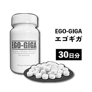 【送料無料】EGO-GIGA エゴギガ [250mg×30粒] メンズサプリ 男性サプリ 男性用 サプリメント サプリ シトルリン アルギニン すっぽん 活力 元気 男 健康 更年期 ggtokyo