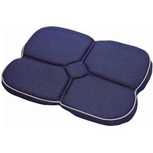 ゲル携帯クッション ネイビー 持ち運び ジェルクッション 腰痛ケア コジットの写真