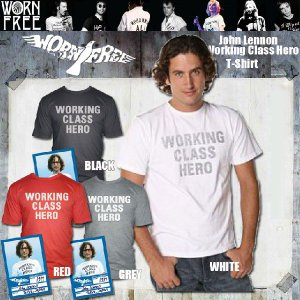 WORN FREE ウォーン フリーJOHN LENNON WORKING CLASS HERO メンズ