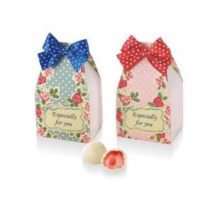プチギフト 結婚式 退職 お菓子 スイートローズ(ホワイトストロベリーチョコ)10月〜4月限定|gift-bellsimple