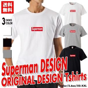 ストリート大人気ブランドTシャツ Superman パロディ ボックスロゴ オシャレ トレンド モード Supreme supreme シュプリーム好き必見
