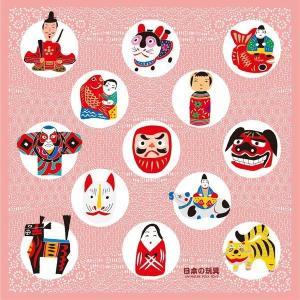 風呂敷 日本の玩具 70cmx70cm タペストリーやテーブルクロスにも使える♪ ふろしき 訪日外国人 訪日客 インバウンド お土産 手土産|gift-goods