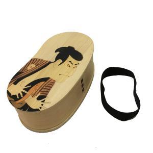 曲げわっぱ まげわっぱ 弁当箱  天然素材 木目 豆型一段 弁当箱(小)写楽 ミニサイズ   曲げわっぱ弁当箱 FH23W_syaraku gift-kingdom