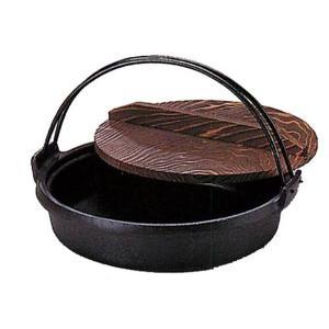 南部鉄器 すき焼き鍋 鉄分補給 |南部鉄器 鉄鍋 すき焼兼ギョーザ鍋 ツル付 内径240mm IH対応 | すき焼き鍋 C05-05|gift-kingdom