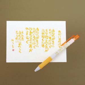 相田 みつを グッズ レターセット  相田みつを ボールペン & はがきセットただいるだけで   文房具 900A471 gift-kingdom