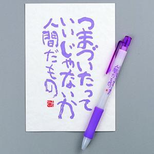 粗品 文具 |相田みつを ボールペン & はがきセットつまづいたって | 文房具 900A495|gift-kingdom