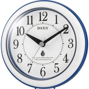 名入れ無料 プレゼント インテリアクロック |リズム時計 名入れプレート付き 掛け時計 アクアパークDN | 置き時計 NAI4KG711DN04|gift-kingdom