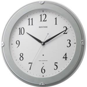 名入れ無料 プレゼント 電波時計 掛け時計 |リズム時計 名入れプレート付き ピュアライトマーロン | 電波掛け時計 NAI8MYA23SR04|gift-kingdom