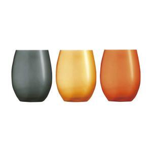 タンブラー おしゃれ |シェフ&ソムリエ シェフ & ソムリエ プライマリーフィック タンブラー3客セット | タンブラー ガラス CS018|gift-kingdom