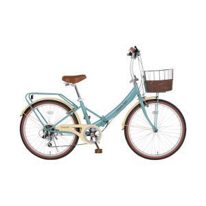 ビンゴ 景品 折たたみ自転車 |低床フレーム 自転車 24型折畳 シンプルスタイル (6段変速) SS-LD246RBSPBR8|gift-kingdom