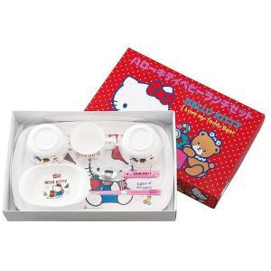 ご出産祝い 幼児用の食器 |ハローキティ ベビーギフト ベビーランチセット | 幼児用食器 ご出産祝い 867439|gift-kingdom