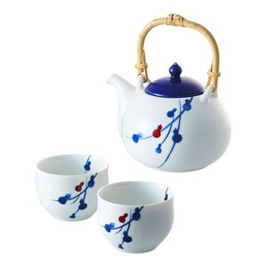 茶器揃え |染付六ツ瓢 miyama. fucube 茶器セット | 急須 湯呑み 94-126-141|gift-kingdom