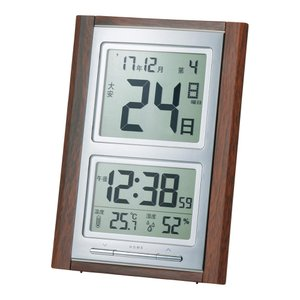 名入れ対応可 電波時計 掛け時計 |ADESSO アデッソ デジタル日めくり電波置掛兼用時計 NA-101|gift-kingdom