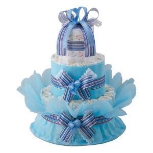 ご出産祝い おむつ |おむつdeケーキ ベビーギフト 二段|gift-kingdom