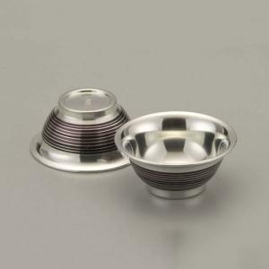 大阪錫器 酒器 |酒器 ぐい呑み おちょこ 錫器 日本製 盃 茶線 丸猪口 おちょこ 2個入り SV111300|gift-kingdom