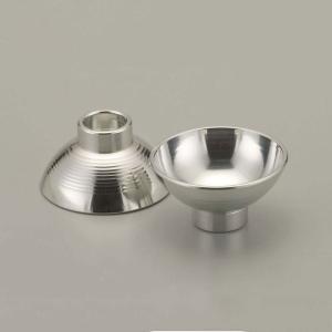大阪錫器 酒器 |酒器 ぐい呑み おちょこ 錫器 日本製 盃 あずま形 2個入り SV111600|gift-kingdom