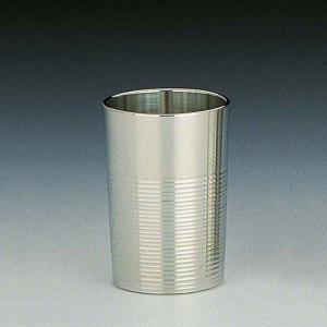 大阪錫器 タンブラー おしゃれ |タンブラー 磨 錫器 日本製 筋入り 小 SV160901|gift-kingdom