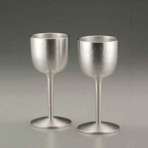 大阪錫器 ワインタンブラー おしゃれ |ワインカップ(ワイングラス) シルキーペア 錫器 日本製 小 SV180102|gift-kingdom