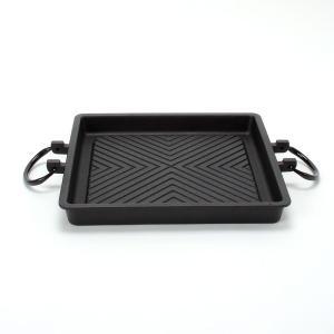 南部鉄器 やき肉プレート 鉄分補給 |南部鉄器 鉄鍋 焼肉プレート角型 内径270mm IH対応 | フライパン C07-11|gift-kingdom