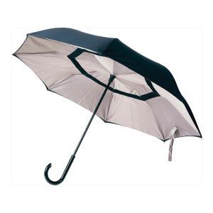 記念品 長傘 お祝い プレゼント |サーカス 逆さに開く2重傘 | 車の乗り降りが楽な傘 EF-UM01 BEBK|gift-kingdom